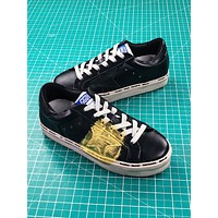 Golden Goose Hi Star Ggdb Black Gold Sneakers