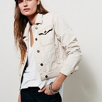 Free People Womens Fitted Denim Jacket