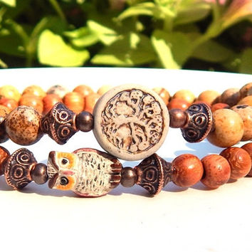 Owl and Tree of Life Bracelet