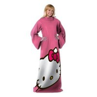 Sanrio, Hello Kitty, Hello Kitty Big Face 48-Inch-by-71-Inch Adult Comfy Throw with Sleeves by The Northwest Company