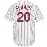 Mike Schmidt Philadelphia Phillies Pinstripe Cool Base Cooperstown Jersey