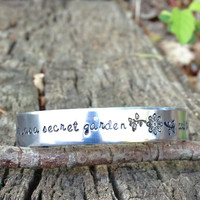 """The Princess Bride Quote Cuff Bracelet """"her heart was a secret garden and the walls were very high"""""""