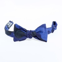 Blue & Black Camouflage Print Bow Tie