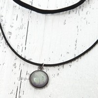 With Love From CA Velvet Opal Necklace Set - Womens Jewelry - Black - One