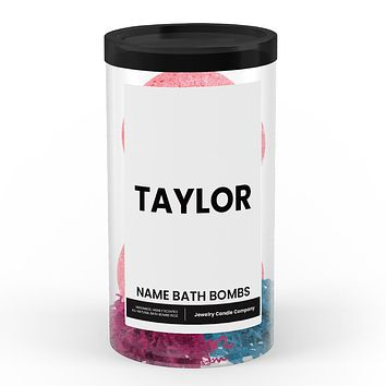 TAYLOR Name Bath Bomb Tube