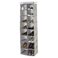 16-Pocket Hanging Shoe Organizer, Gray, Storage Boxes & Bins