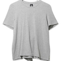 Tie-Back Tee by Boutique - Grey Marl