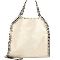 Falabella Mini Fold-Over Tote Bag, Metallic Beige - Stella McCartney