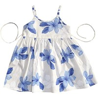 delight blue hawaiian girl sundress