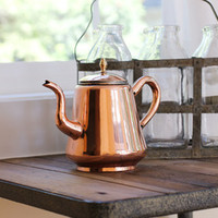 Late 19th Century English Copper Teapot, by Coppermill Kitchen - Coppermill Kitchen on Taigan