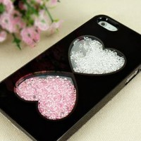 Cute Hearts Dancing Diamond Case for iPhone 5