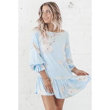 Once In A Blue Moon Floral Dress