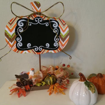 Fall pumpkin chalkboard