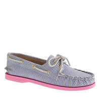 Sperry Top-Sider® for J.Crew Authentic Original 2-eye boat shoes in stripe - shoes - Women's vacation shop - J.Crew