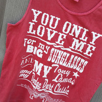 Little Red Wagon Unisex tank - cover up S-XXL Comfort Colors Tank- Customize! 20 color choices available Miranda Lambert