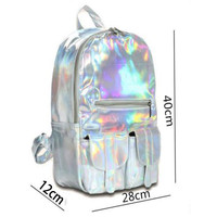 Multicolor Holographic Backpack