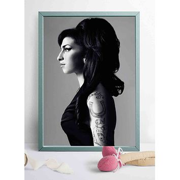 Amy Winehouse Music Singer Art Poster Custom Room Decor 27x40 24x36 12x18 20x30inch Canvas Painting 3927|Painting & Calligraphy