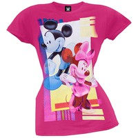 Mickey Mouse - Pop Art Couple Juniors T-Shirt