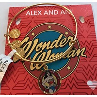 Alex and Ani Dc Comics Justice League Wonder Woman Charm Bangle Gold New