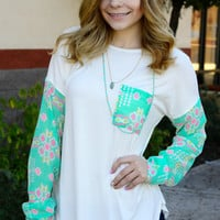 WILD ROMANCE TOP IN MINT