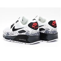 NIKE AIR MAX 90 fashion ladies men running sports shoes sneakers F-PS-XSDZBSH Grey white tail