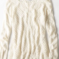 AEO Women's Textured Cable Sweater