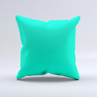 Solid Mint V3  Ink-Fuzed Decorative Throw Pillow