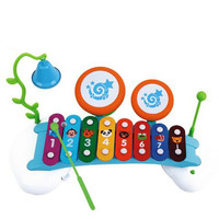 """15"""" Rainbow Xylophone Piano Bridge for Kids With Ringing Bell and Drums"""
