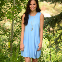 Forever In Love Dress- Blue