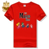 Super Mario party nes switch Classic game  bros character  LUIGI todd Peach game t shirt  fans t shirts various colors cotton ac465 AT_80_8