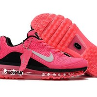 Air Max 2017 Men Shoes Pink And Black