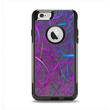 The Purple and Blue Electric Swirels Apple iPhone 6 Otterbox Commuter Case Skin Set