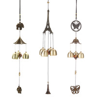 Antique Cooper Tubes Bells Windchime Outdoor Living Wind Chimes Yard Garden Home Good Lucky Hanging Decoration Ornaments
