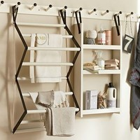 """Gabrielle Laundry Organizer Rail, Large, 37"""", White - traditional - dryer racks - by Pottery Barn"""