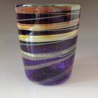 Hand Blown Drinking Glass by HorkoverGlass on Etsy