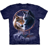 DREAMCATCHER WOLVES T-Shirt The Mountain Native American Indian Wolf S-3XL NEW