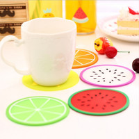 Fruit Shape Antiskid heat Insulation Coaster Creative Home Kitchen Bowl Mats Placemat Table Mat Cup Mat Meal Pad.