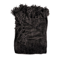 Susan Black Chenille Throw