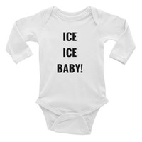 'ICE, ICE, BABY!' Infant Long Sleeve One Piece