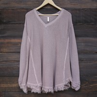 oversize thermal sweater - mauve
