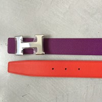 NEW Hermes Constance 32mm Anemone/capuccine Belt Kit Reversible 85cm