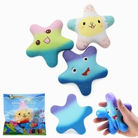 Vlampo Squishy Starfish 14cm Sweet Slow Rising Original Packaging Collection Gift Decor Toy