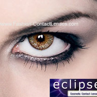 Eclipse Color Light Brown Contact Lenses - for a brown eye color