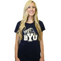 BYU Bookstore - Classic Juniors Cougar Over BYU T-Shirt - Gear