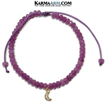 Tiny Treasures | Moon Charm | Purple Jade Adjustable Reiki Meditation Bracelet