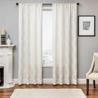 Laurie Boucle Lattice Curtain Panel