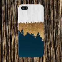 Geometric Gold Glitter x Navy Blue x White Wood Design Case for iPhone 6 6 Plus iPhone 5 5s 5c iPhone 4 4s Samsung Galaxy s5 s4 and Note 4