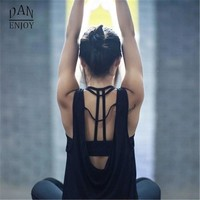 DANENJOY Women Yoga Shirts Tops Women'S Fitness Sports Woman Gym Clothes Sport Shirt For Gym Camiseta Running Mujer Shirt