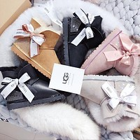 UGG Winter Trending Women Cute Bowknot Ribbon Snow Boots I/A