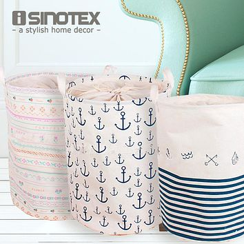 Foldable Laundry Basket Large Covered Waterproof Clothes Toys Clothing Storage Barrels Bathroom Sundries Laundry Basket 1PCS/Lot